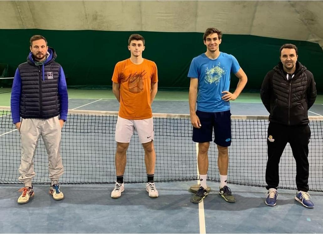 Enrico Dalla Valle con Luca Nardi e coach