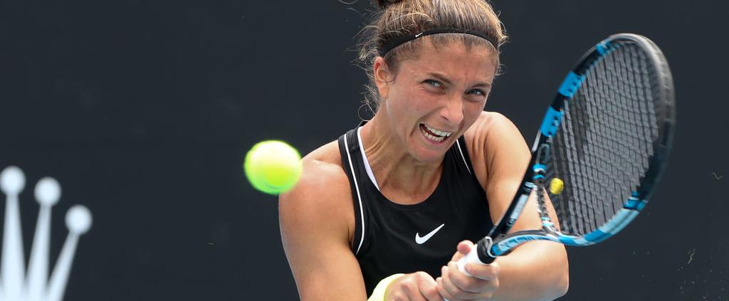Sara Errani in azione agli Australian Open