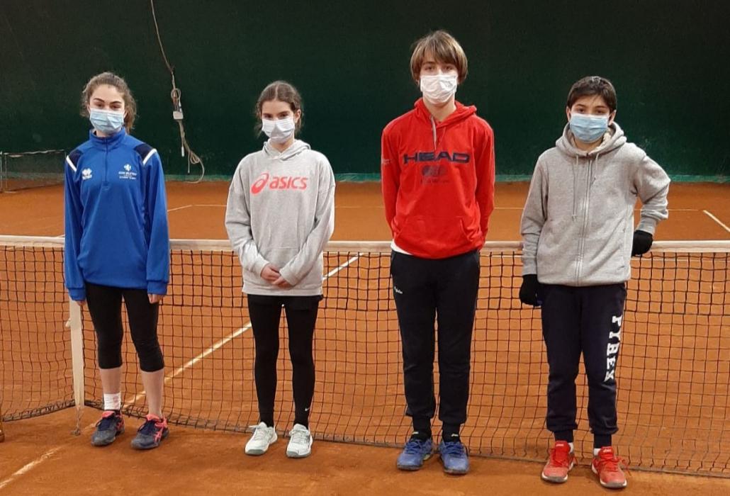 I quattro finalisti del torneo under 14 Joma Tour di Faenza