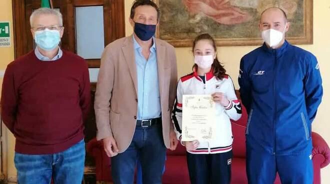 Sofia Cadar ricevuta dal sindaco di Massa Lombarda