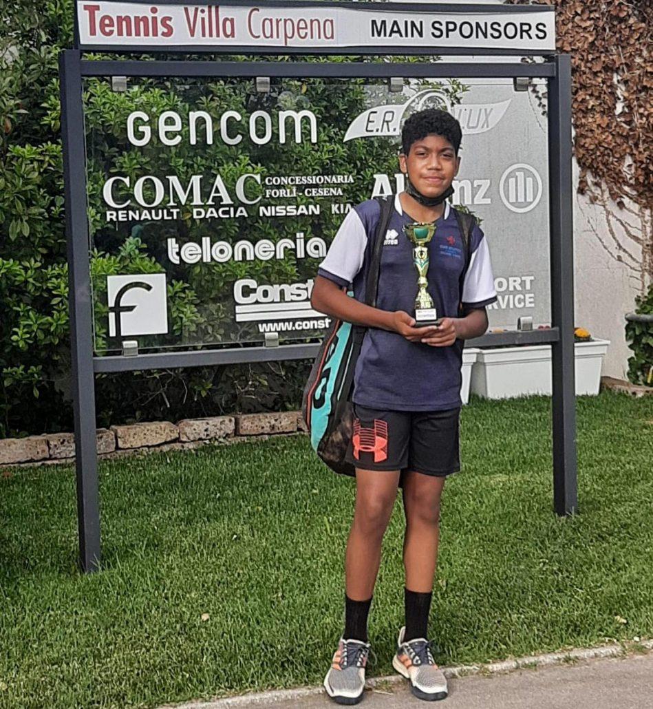 Torneo giovanile Ten Pinarella: finale per Baldinini, semifinale per Geminiani