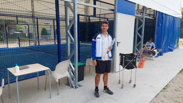 Russi Sporting Club: Giacomo Gordini accanto al campo da padel coperto
