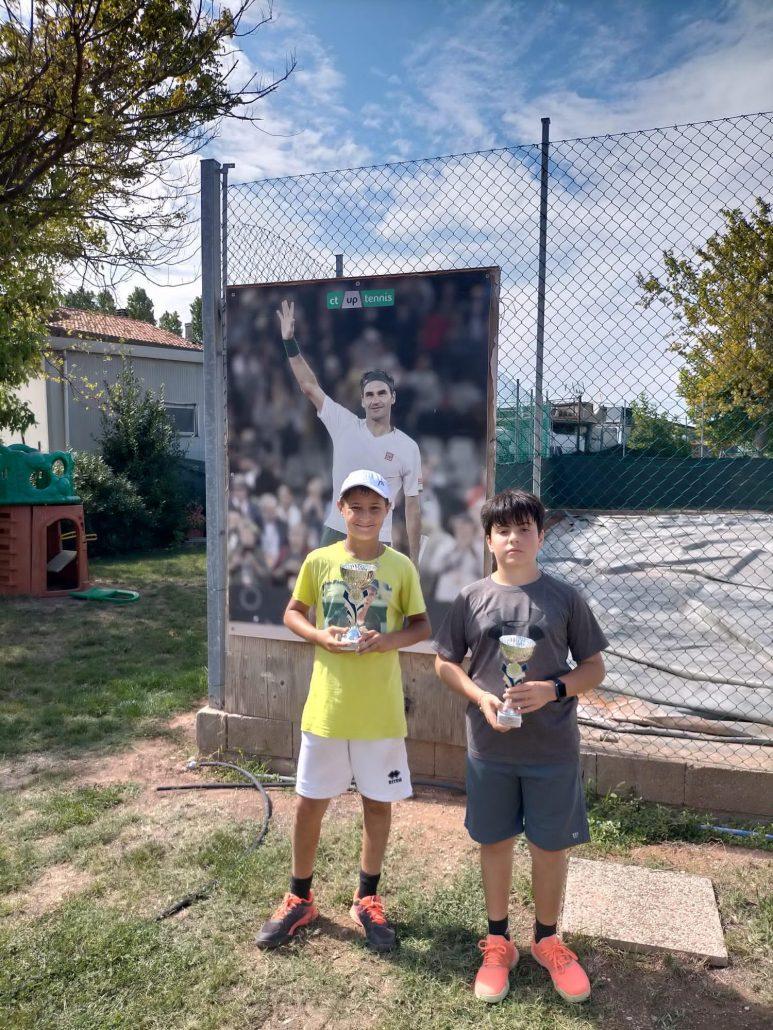 Torneo giovanile all'Up Tennis: successi di Diego Tarlazzi e Federico Attanasio