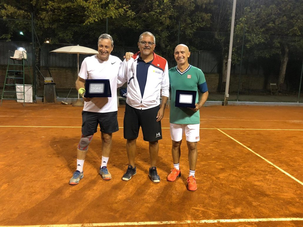 Leonardo Bertozzi ed Andrea Travaglini super Veterani al Circolo Tennis Cicconetti