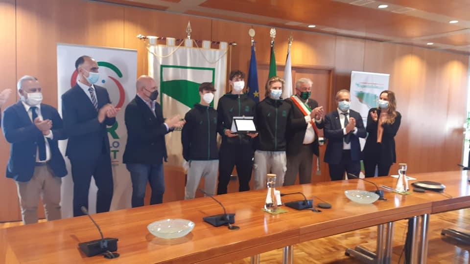 La squadra under 16 maschile dello Sporting Club Sassuolo premiata in Regione